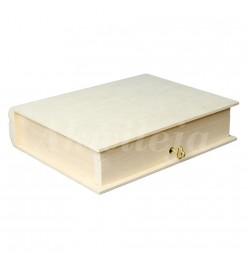 Pudełko pojemnik książka z kluczykiem